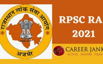 RPSC RAS 2021 Notification