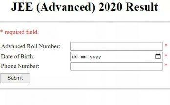 JEE Advanced result 2021